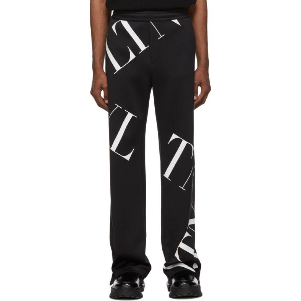 ヴァレンティノ Valentino メンズ スウェット・ジャージ ボトムス・パンツ【Black 'VLTN' Macrogrid Lounge Pants】Black