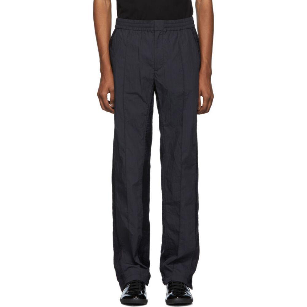 ヴァレンティノ Valentino メンズ スウェット・ジャージ ボトムス・パンツ【Black & Navy Nylon Lounge Pants】Black/Navy