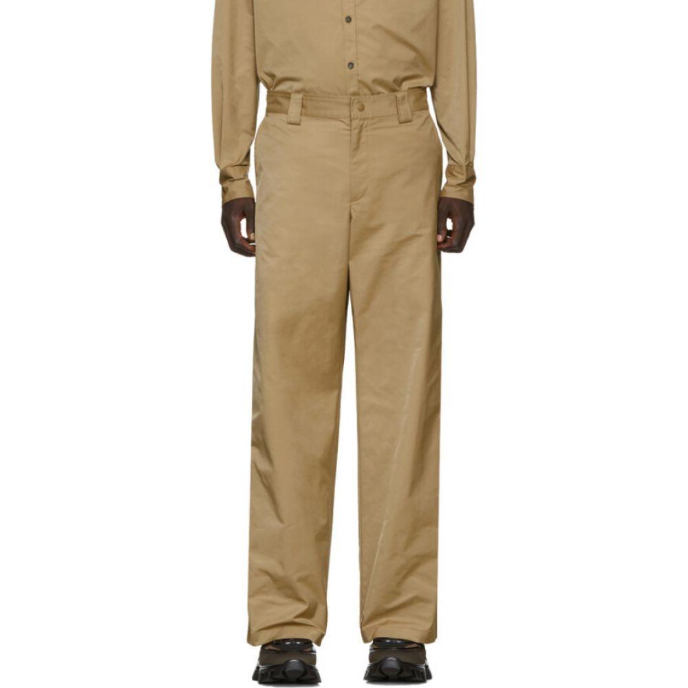 ヴァレンティノ Valentino メンズ ボトムス・パンツ 【Beige Straight-Fit Trousers】Beige