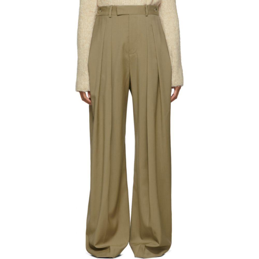 J.W.アンダーソン JW Anderson レディース ボトムス・パンツ 【Beige High-Waisted Wool Trousers】Beige