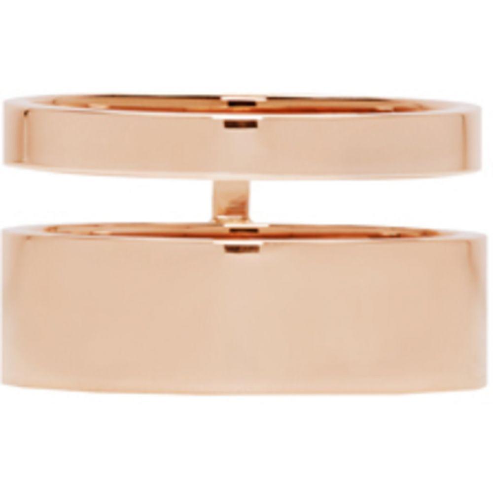 レポシ レディース ジュエリー・アクセサリー 指輪・リング【Rose Gold Double Band Berbere Ring】