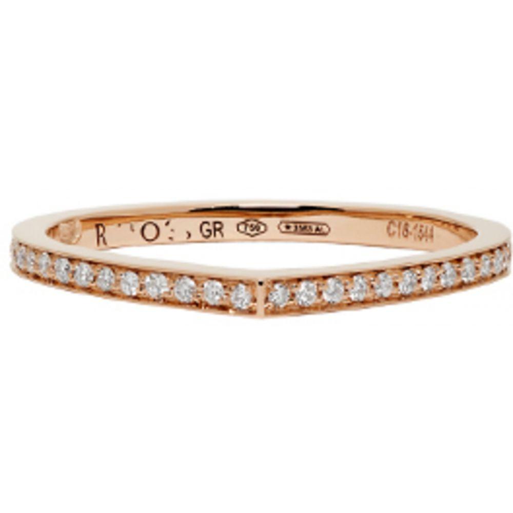 レポシ レディース ジュエリー・アクセサリー 指輪・リング【Rose Gold Full Pave Antifer Ring】