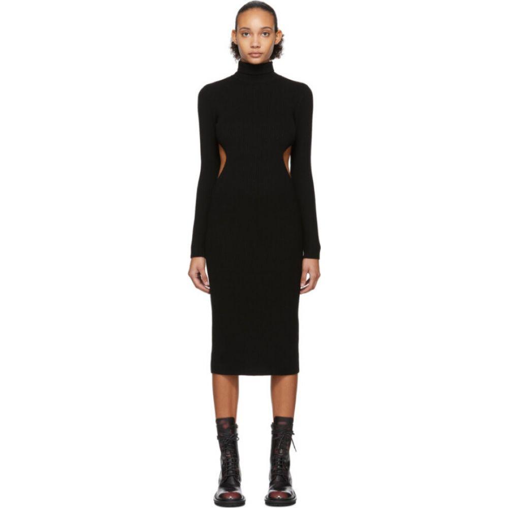 ヤンリ Yang Li レディース ワンピース ワンピース・ドレス【Black Wool Destroyed Dress】Black