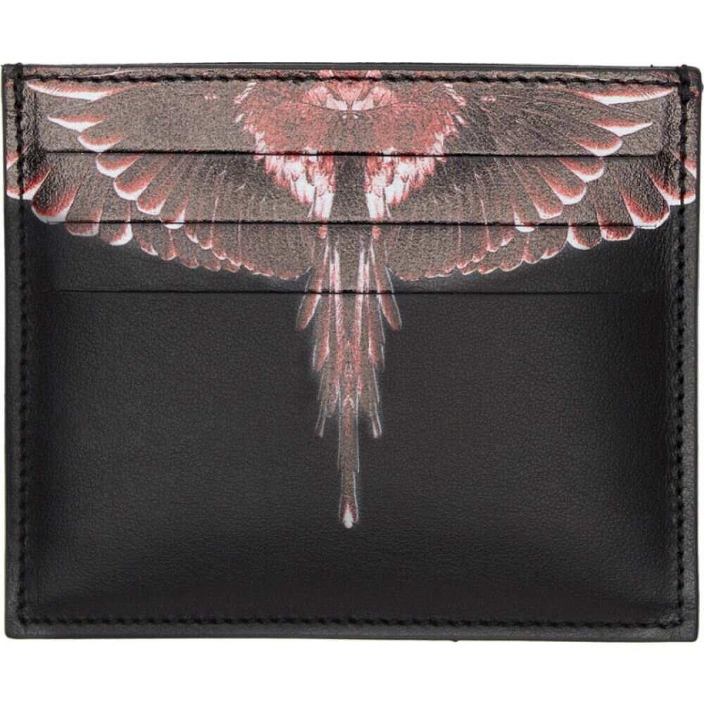 マルセロバーロン Marcelo Burlon County of Milan メンズ カードケース・名刺入れ カードホルダー【Black & Red Ghost Wings Card Holder】Black/Multi