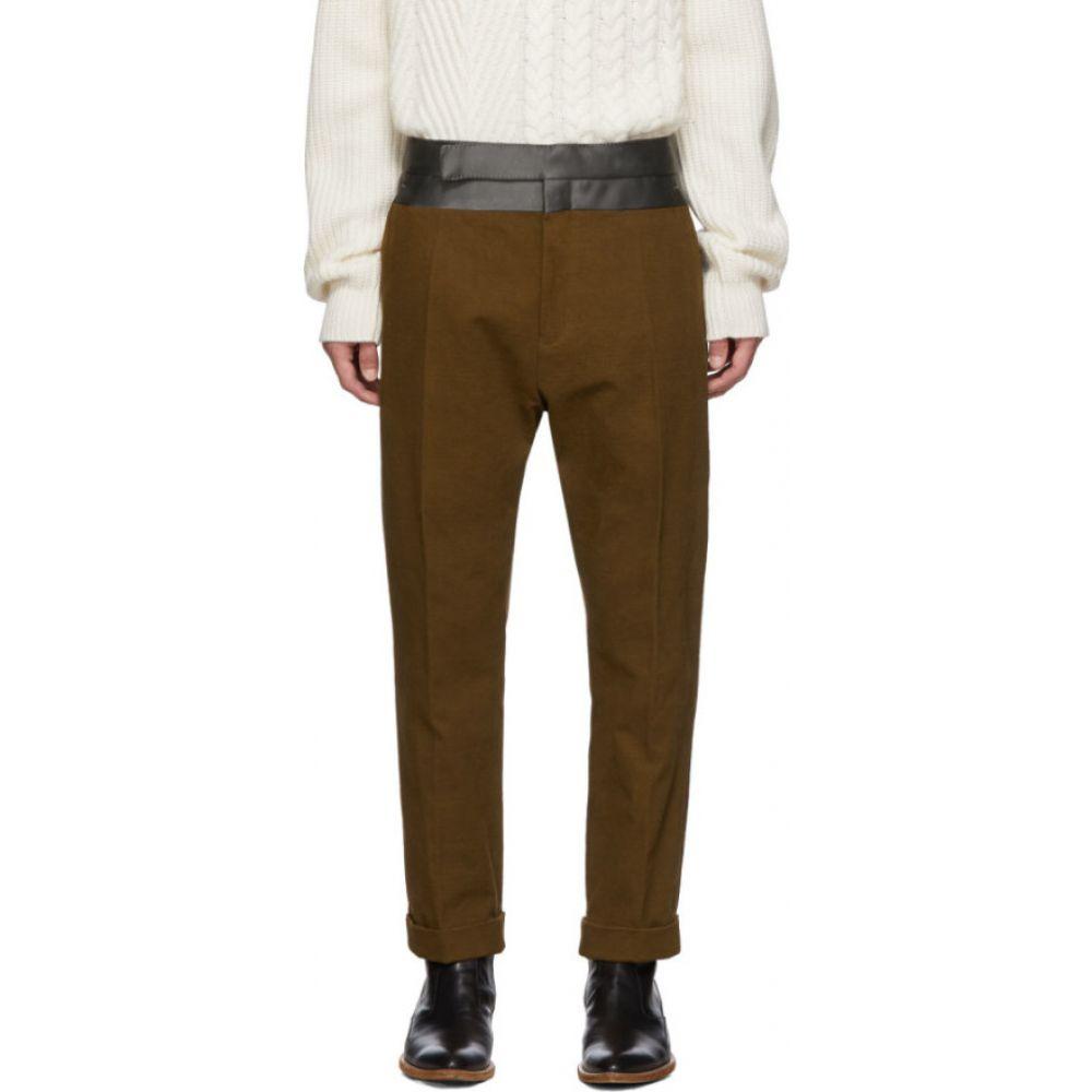ハイダー アッカーマン Haider Ackermann メンズ ボトムス・パンツ 【Brown Contrast Waistband Trousers】Brown/Anthracite