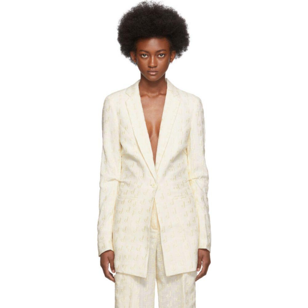 ジャックムス Jacquemus レディース スーツ・ジャケット アウター【Off-White Embroidered 'La Veste Bergamo' Blazer】Beige/Off-white