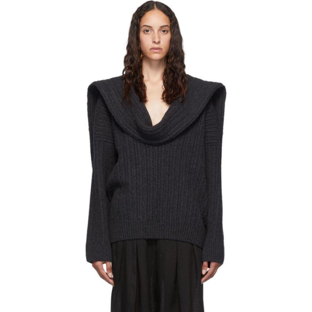 ジャックムス Jacquemus レディース ニット・セーター トップス【Grey 'La Maille Ahwa' Sweater】Grey