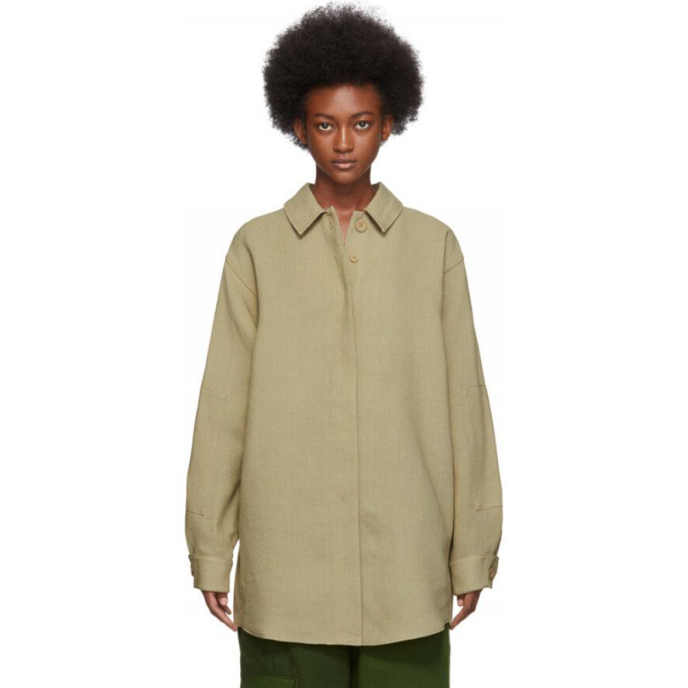 ジャックムス Jacquemus レディース ブラウス・シャツ トップス【Beige 'La Chemise Loya' Shirt】Dark beige