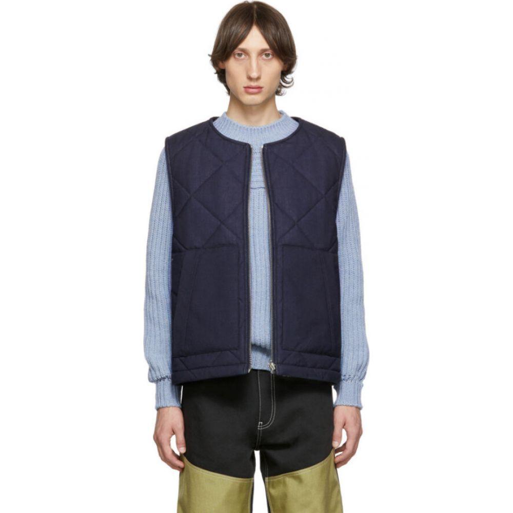 ジャックムス Jacquemus メンズ ベスト・ジレ トップス【Navy 'Le Gilet Romarin' Vest】Navy