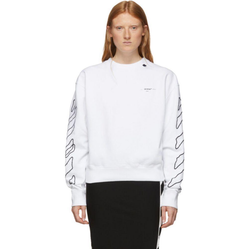 オフホワイト Off-White レディース パーカー トップス【White Abstract Arrows Oversized Hoodie】White/Black