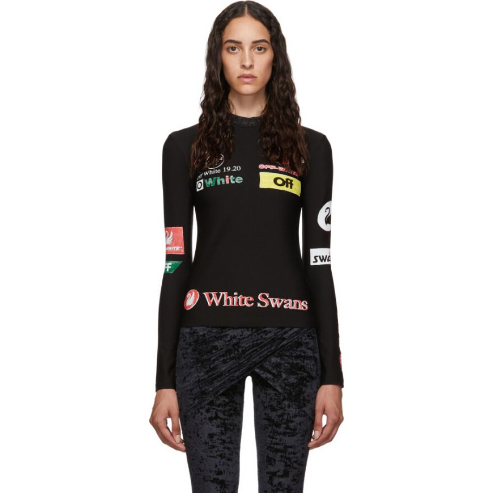 オフホワイト Off-White レディース トップス 【SSENSE Exclusive Multilogo Sporty Top】Black multi