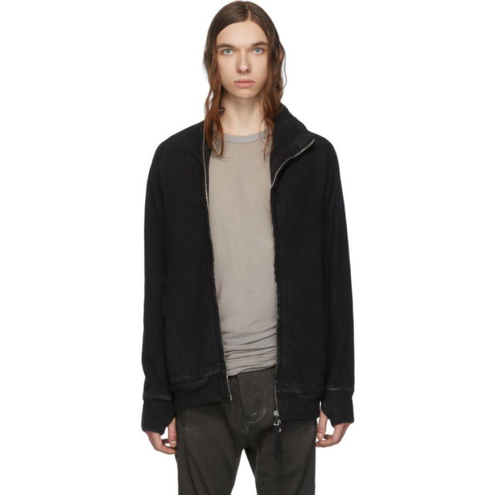 ボリス ビジャン サベリ Boris Bidjan Saberi メンズ ジャケット アウター【Black Double Dyed Zip-Up Jacket】Black