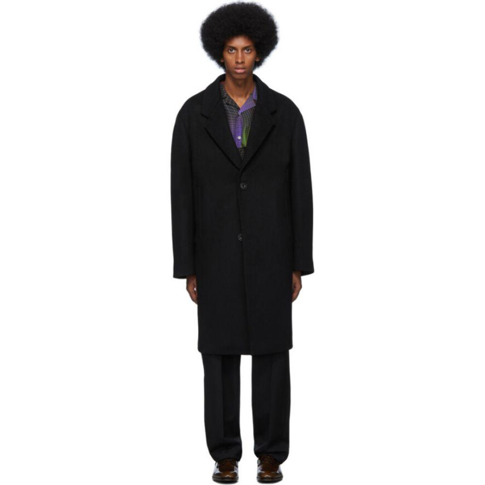 ルメール Lemaire メンズ コート チェスターフィールドコート アウター【Black Felted Wool Chesterfield Coat】Black