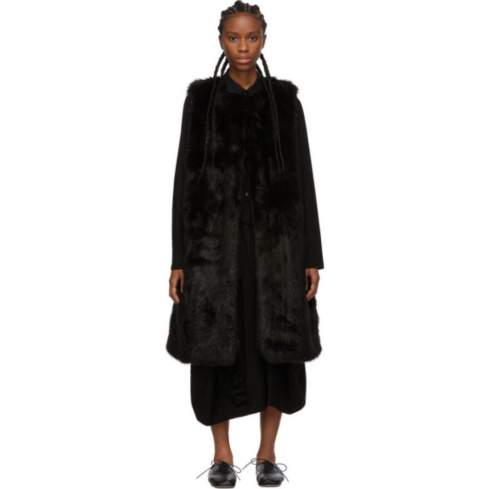 コム デ ギャルソン Comme des Garcons Comme des Garcons レディース ベスト・ジレ トップス【Black Faux-Fur Vest】Black