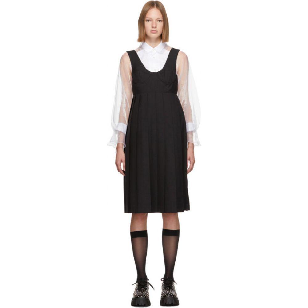 ノワール ケイ ニノミヤ Noir Kei Ninomiya レディース ワンピース ビスチェ ワンピース・ドレス【Black Wool Bustier Dress】Black