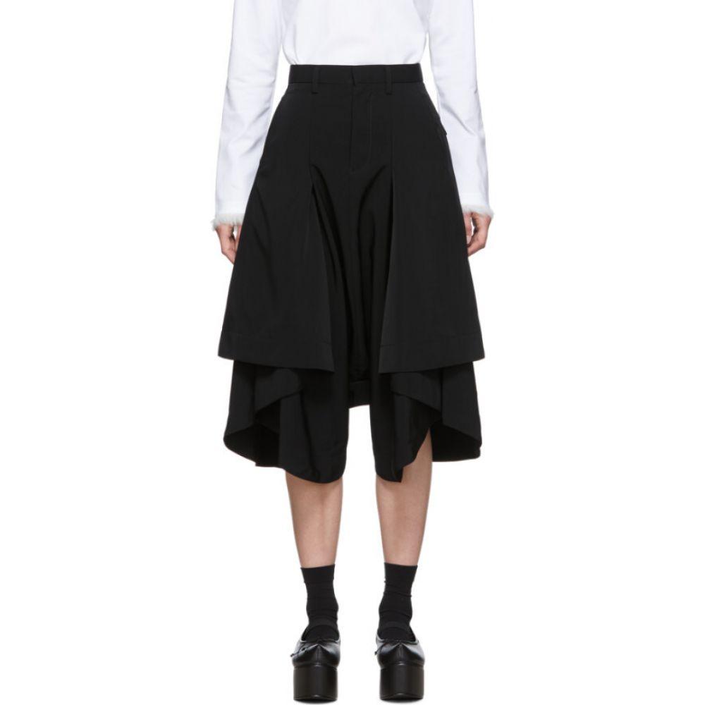 ノワール ケイ ニノミヤ Noir Kei Ninomiya レディース ボトムス・パンツ 【Black Short Side Pleat Trousers】Black