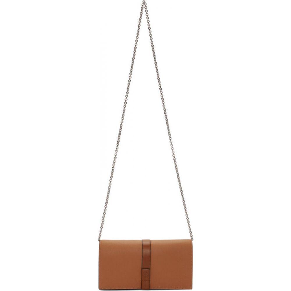 ロエベ Loewe レディース ショルダーバッグ バッグ【Tan Chain Wallet Bag】Light caramel/Pecan