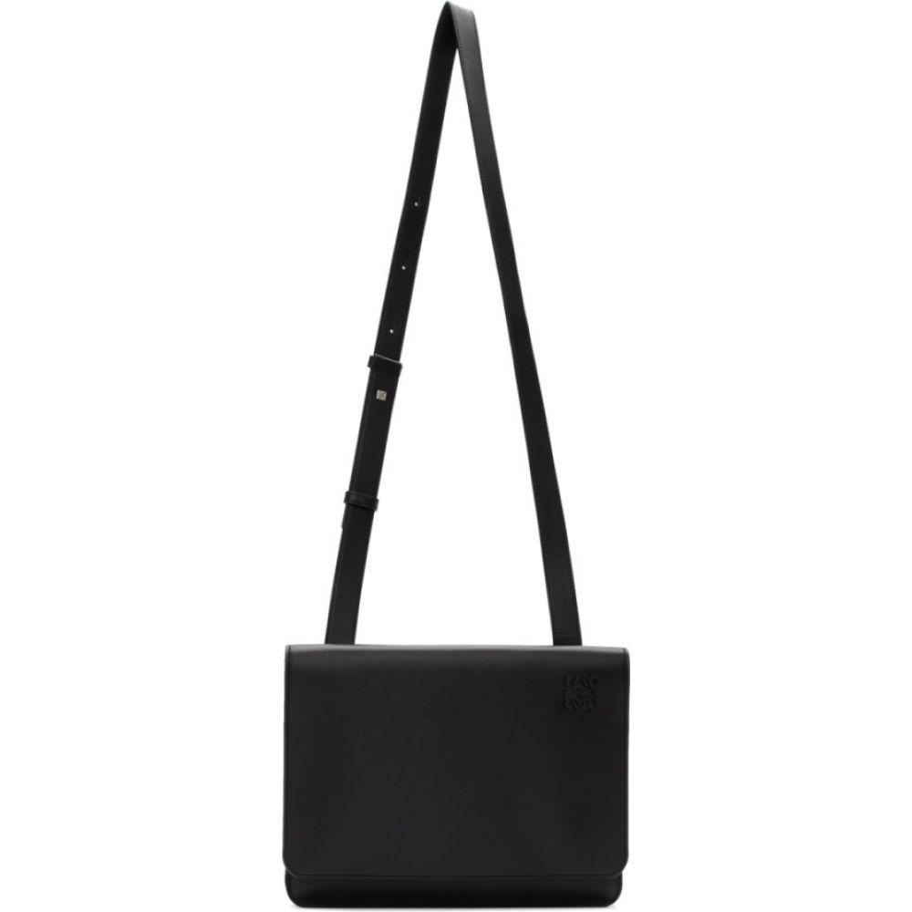 ロエベ Loewe メンズ メッセンジャーバッグ バッグ【Black Gusset Flat Messenger Bag】Black