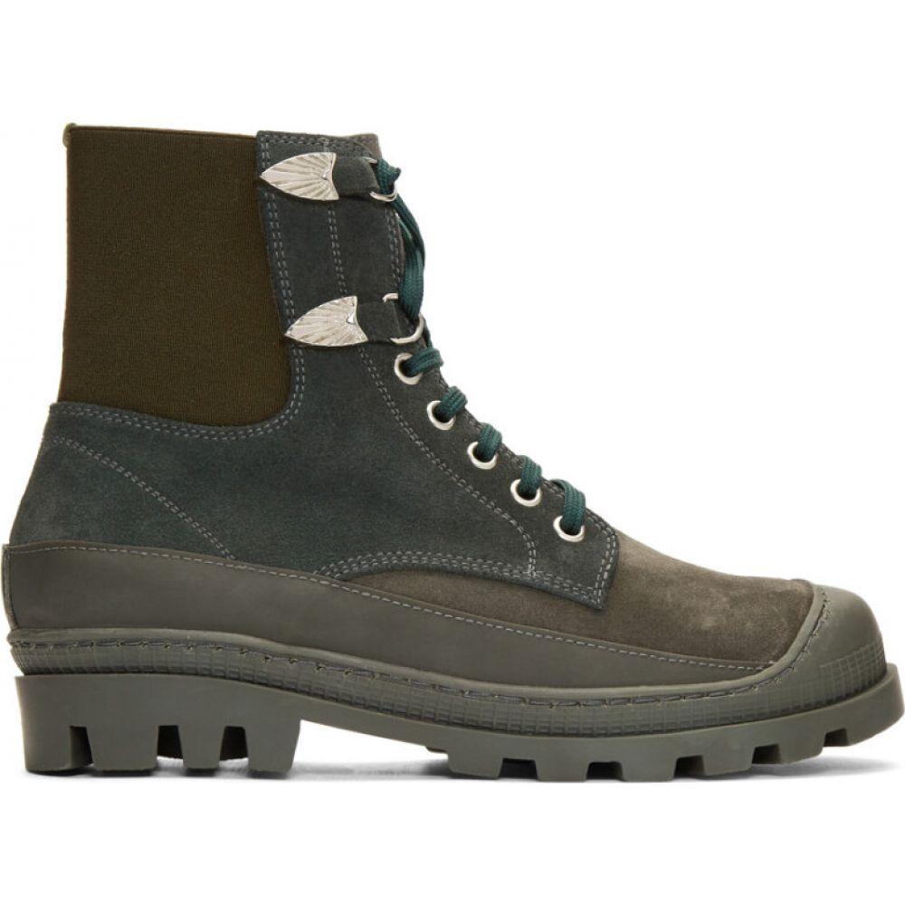 トーガ Toga Virilis メンズ ブーツ レースアップブーツ シューズ・靴【Green Suede Lace-Up Boots】Green