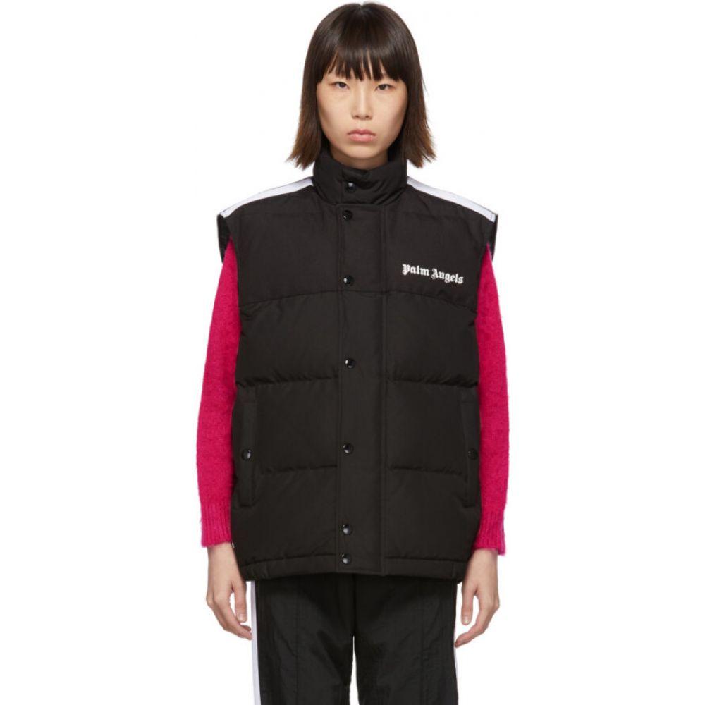 パーム エンジェルス Palm Angels レディース ベスト・ジレ ダウンベスト トップス【Black Down Track Vest】Black/White
