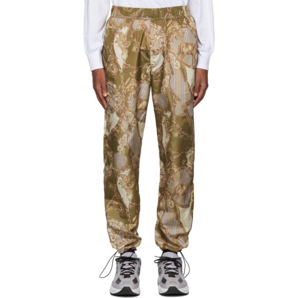 パーム エンジェルス Palm Angels メンズ スウェット・ジャージ ボトムス・パンツ【Khaki Bridle Aftersport Track Pants】Green