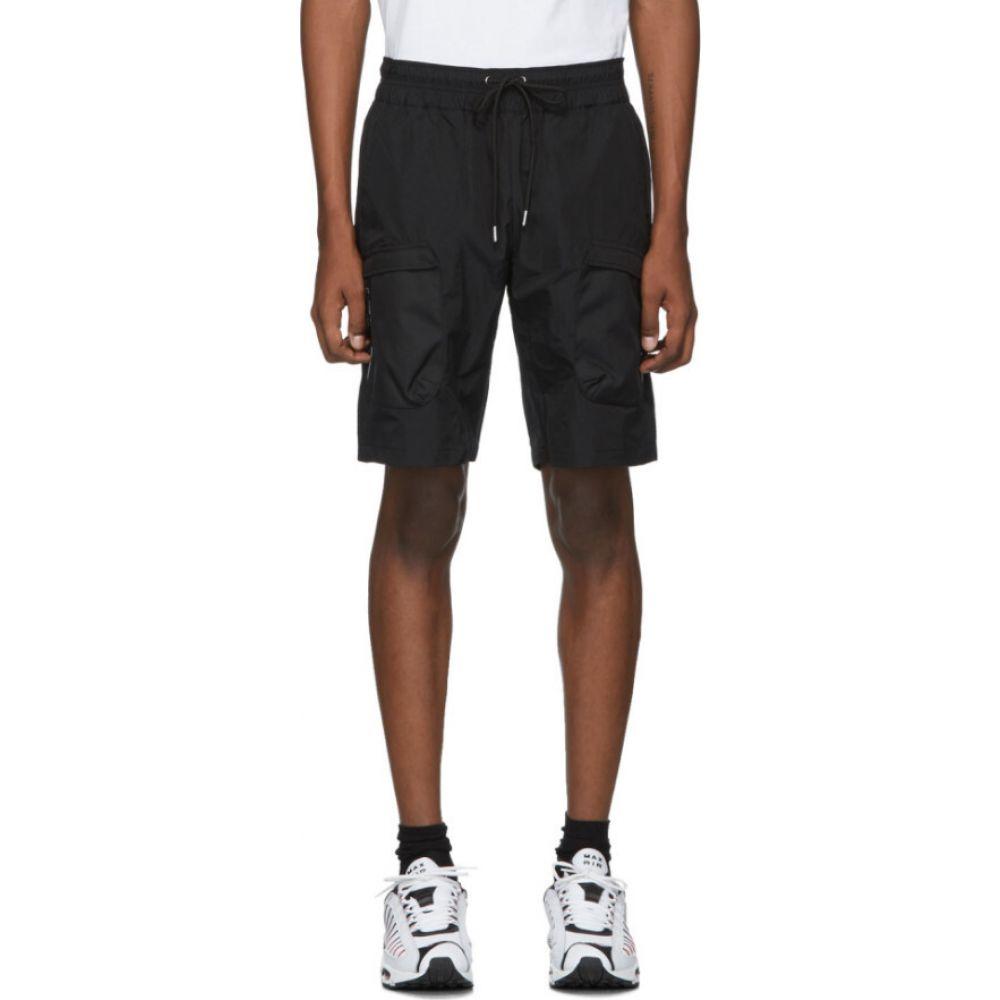 ジョン エリオット John Elliott メンズ ショートパンツ カーゴ ボトムス・パンツ【Black High Shrunk Nylon Cargo Shorts】Black