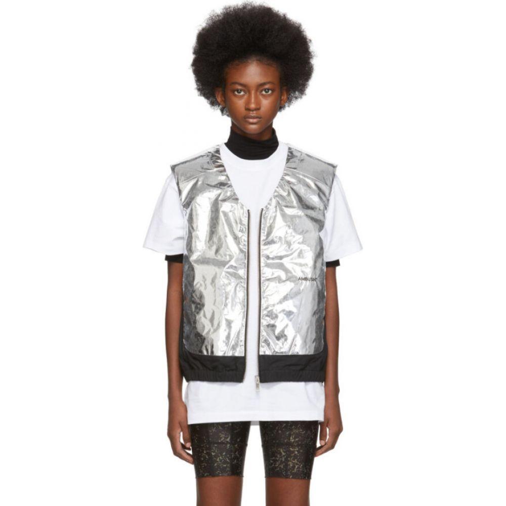 アンブッシュ Ambush レディース ベスト・ジレ トップス【Silver & Black Padded Vest】Silver