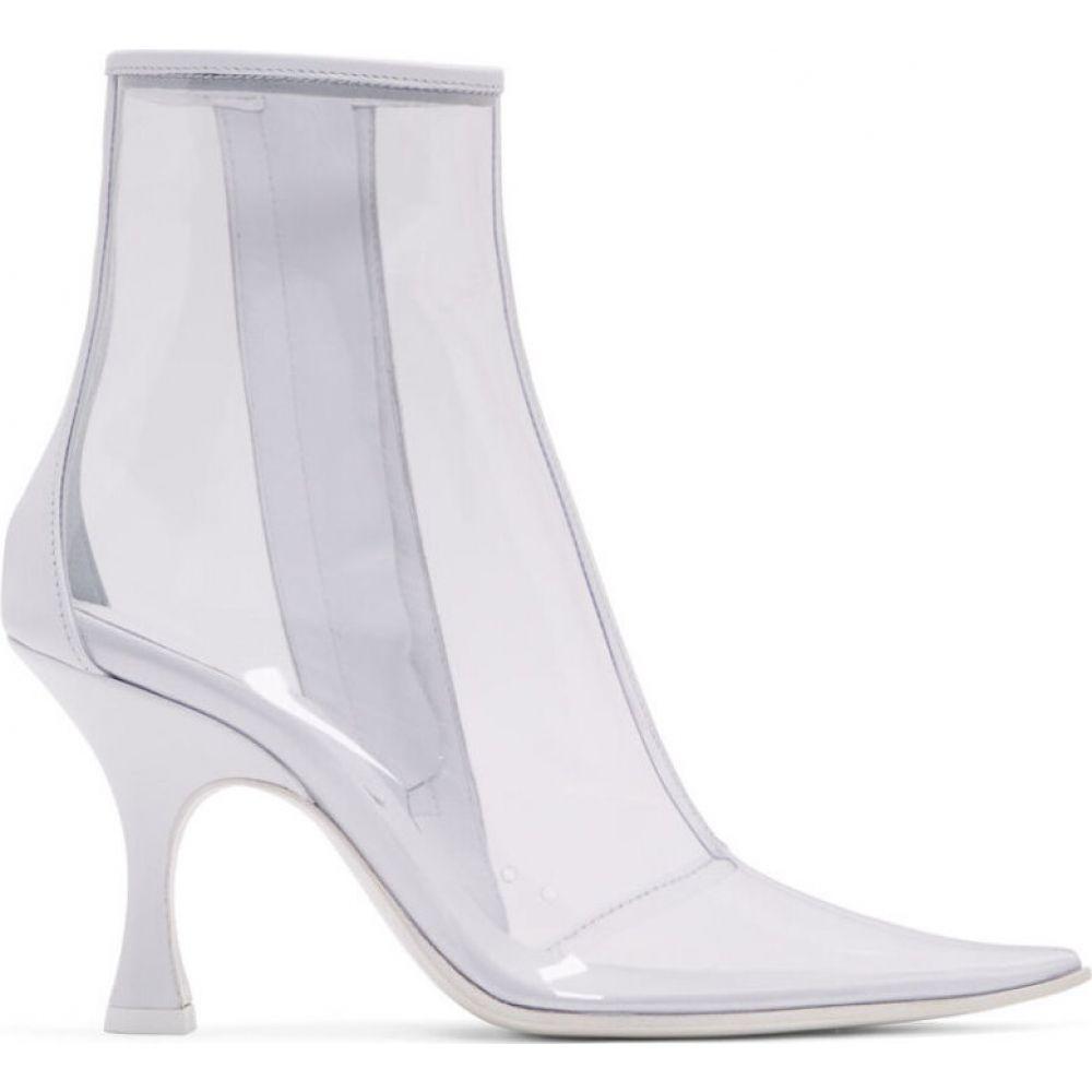 メゾン マルジェラ MM6 Maison Margiela レディース ブーツ ショートブーツ シューズ・靴【White & Transparent PVC Ankle Boots】