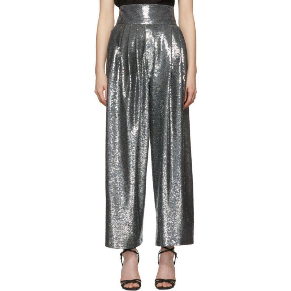 マーク ジェイコブス Marc Jacobs レディース ボトムス・パンツ 【Blue Micro-Sequin Dress Trousers】