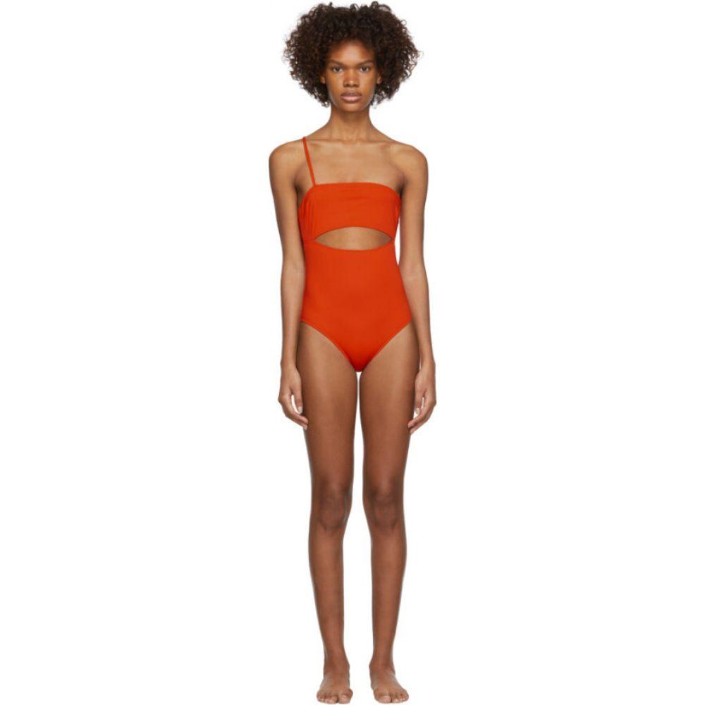 ルディ ガーンライヒ Rudi Gernreich レディース ワンピース 水着・ビーチウェア【Orange Single Strap Hardware One-Piece Swimsuit】Orange bittersweet