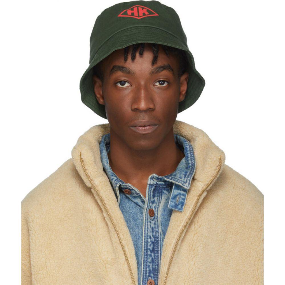 ハン コペンハーゲン Han Kjobenhavn メンズ ハット バケットハット 帽子【Green 'HK' Bucket Hat】Army