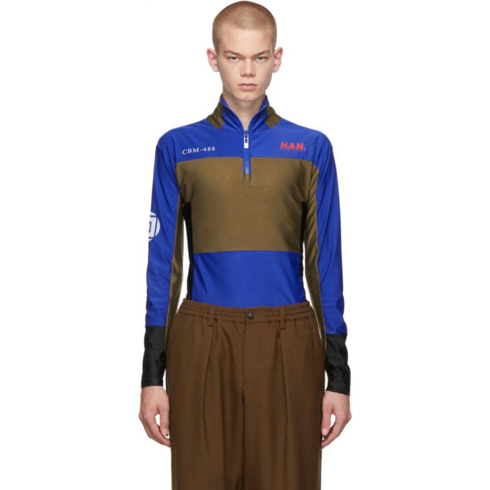 ハン コペンハーゲン Han Kjobenhavn メンズ Tシャツ トップス【Blue Tech T-Shirt】Blue