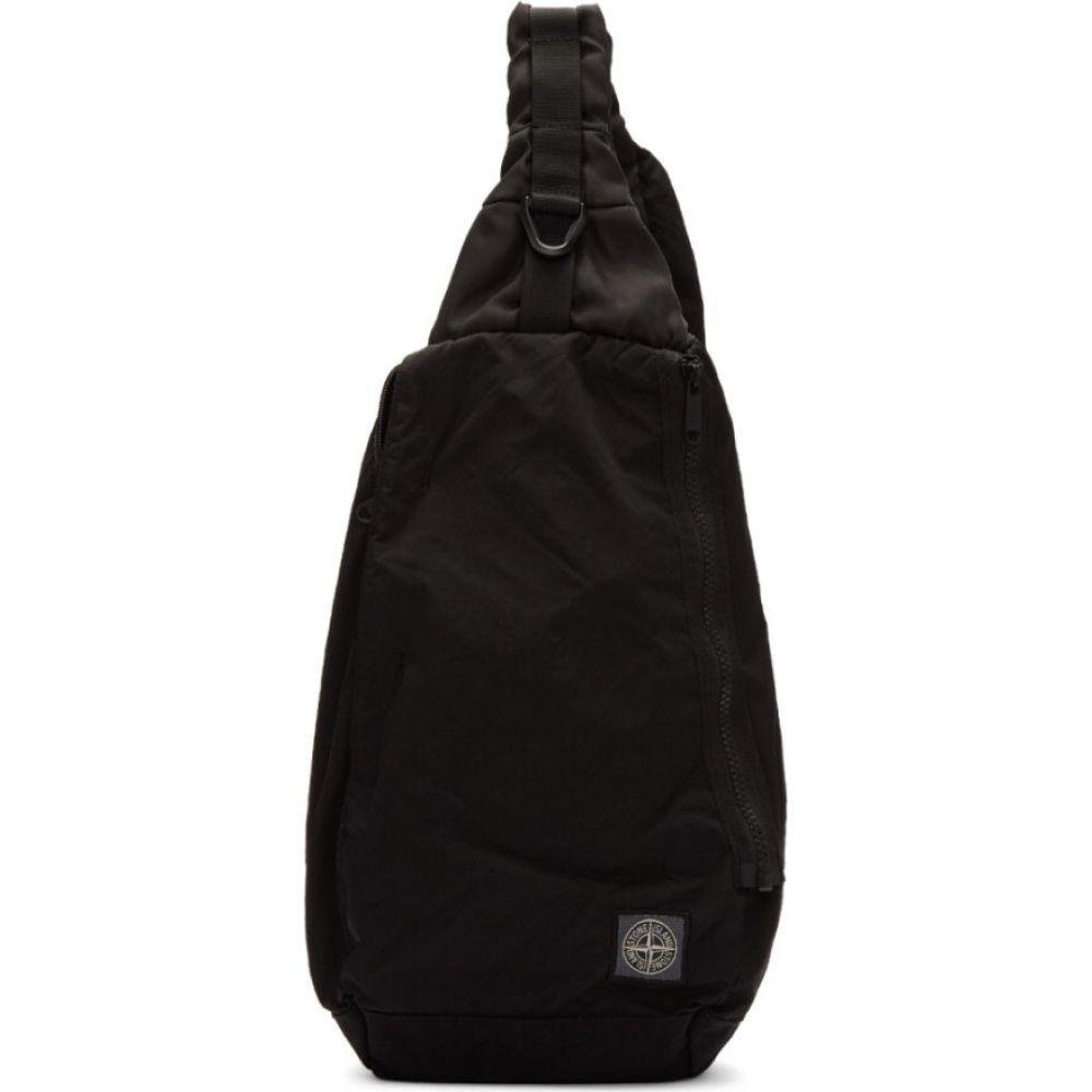 ストーンアイランド Stone Island メンズ バックパック・リュック ワンショルダー バッグ【Black Small One-Shoulder Backpack】Black