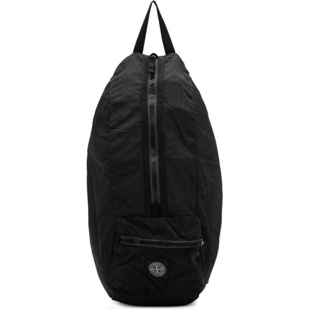 ストーンアイランド Stone Island メンズ バックパック・リュック バッグ【Black Nylon Metal Watro Ripstop Packable Backpack】Black