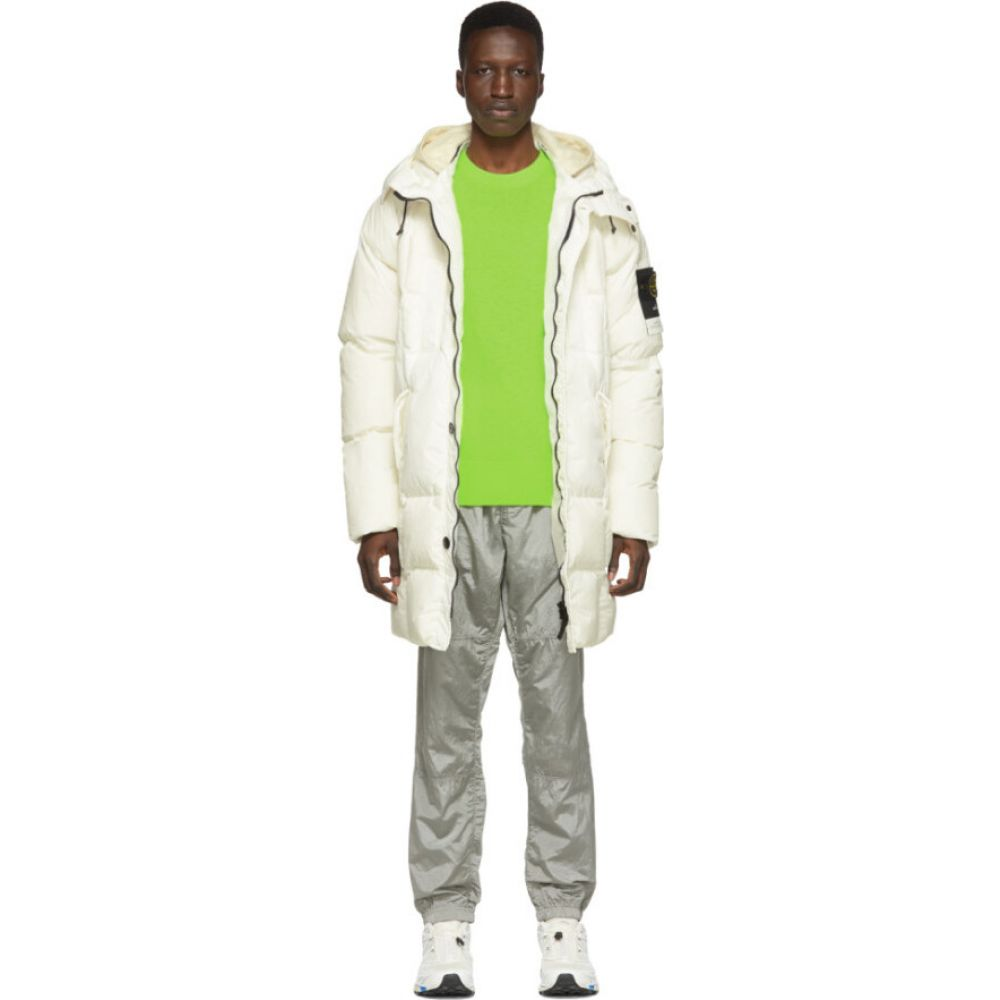 ストーンアイランド Stone Island メンズ ダウン・中綿ジャケット フード アウター【Off-White Down Hooded Puffer Jacket】Natural