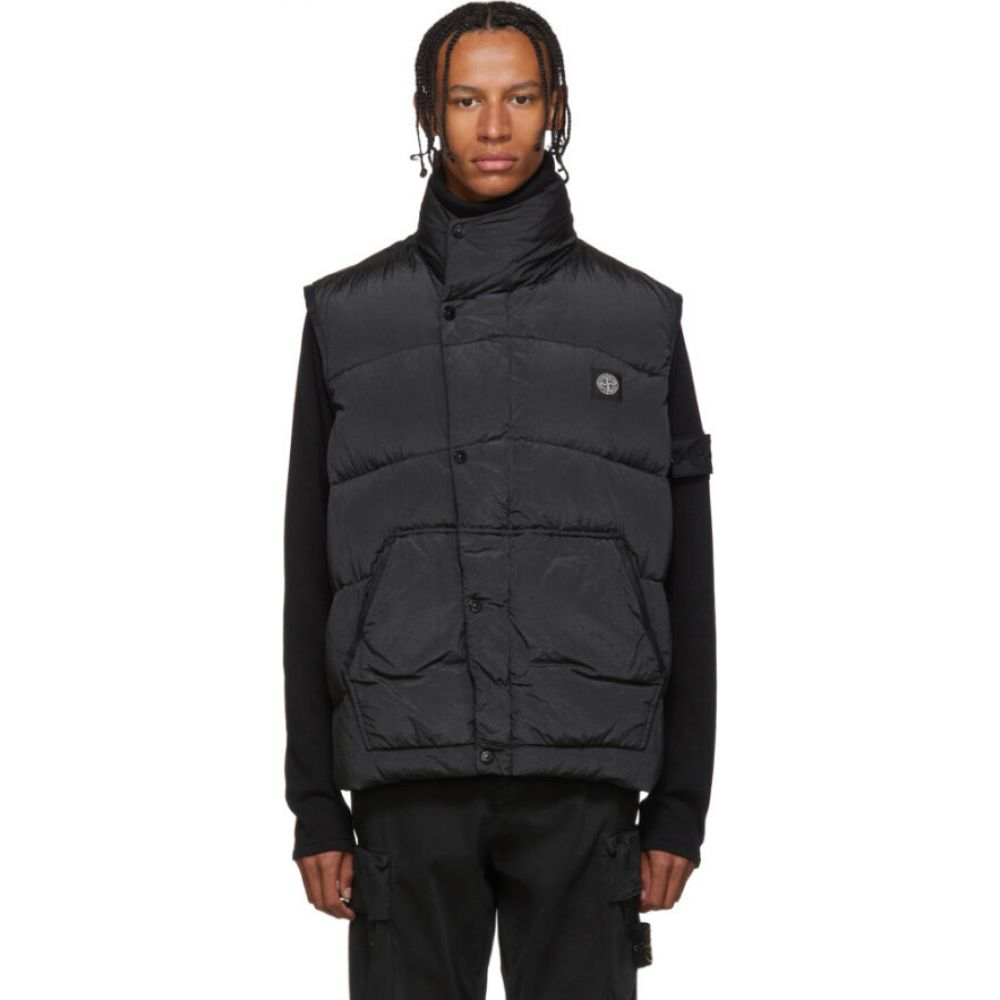 ストーンアイランド Stone Island メンズ ベスト・ジレ ダウンベスト トップス【Black Down Puffer Vest】Black