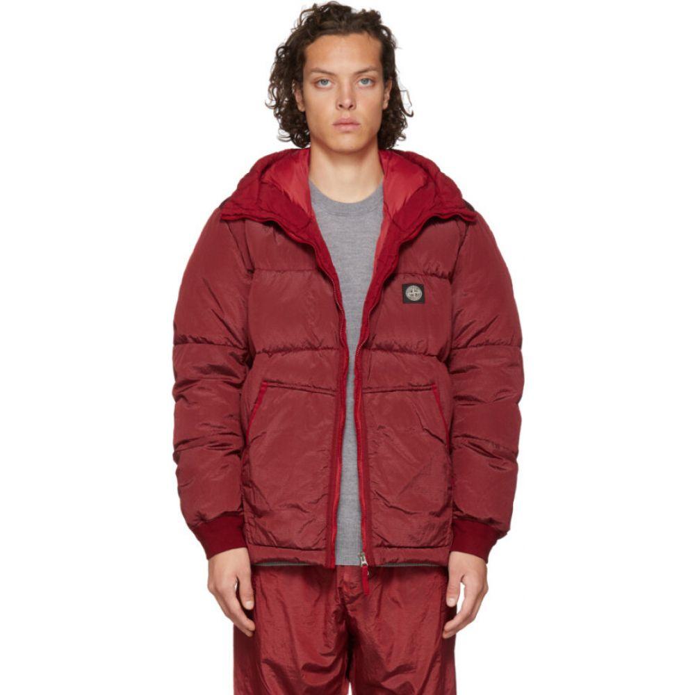 ストーンアイランド Stone Island メンズ ダウン・中綿ジャケット フード アウター【SSENSE Exclusive Red Down Hooded Puffer Jacket】Red