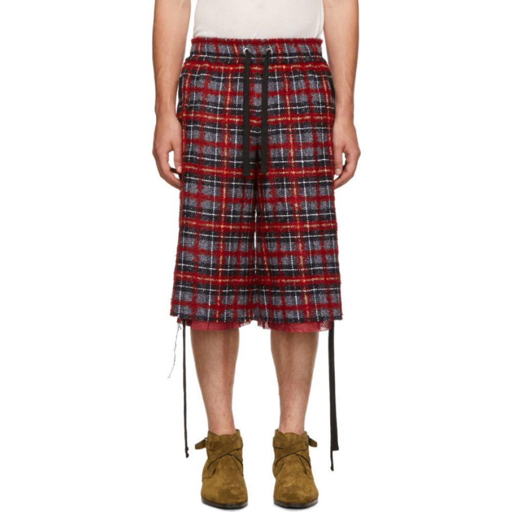 フェイス コネクション Faith Connexion メンズ ショートパンツ ボトムス・パンツ【Red & Black Tweed Laced Shorts】Red/Black