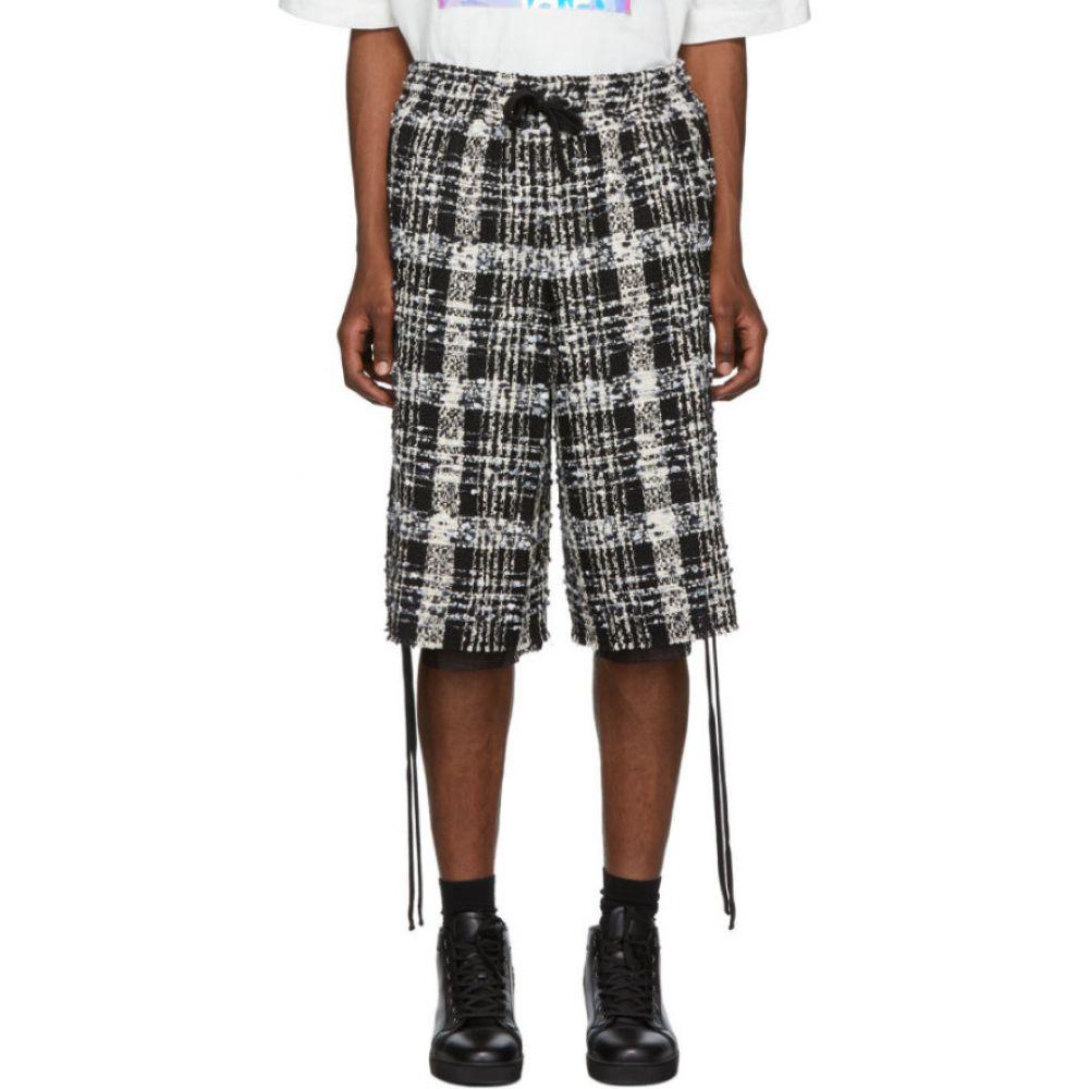 フェイス コネクション Faith Connexion メンズ ショートパンツ ボトムス・パンツ【Black & White Tweed Laced Check Shorts】Black/White