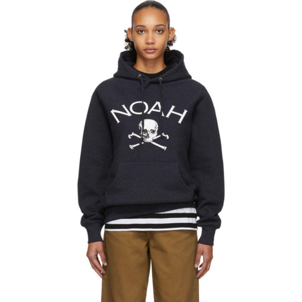 ノア Noah NYC レディース パーカー トップス【Navy Jolly Roger Hoodie】Navy heather