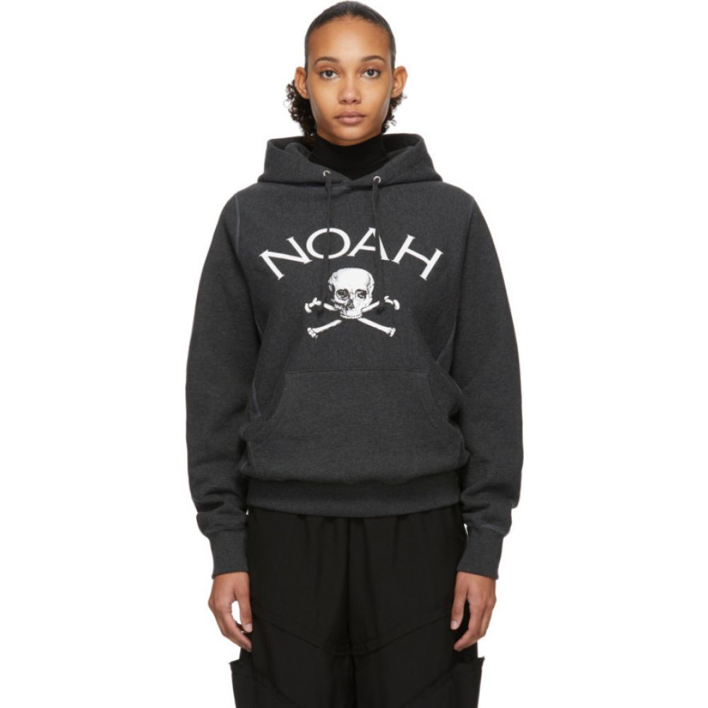 ノア Noah NYC レディース パーカー トップス【Grey Jolly Roger Hoodie】Charcoal heather