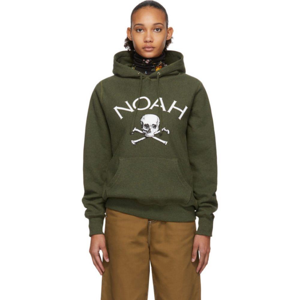 ノア Noah NYC レディース パーカー トップス【Green Jolly Roger Hoodie】Olive heather
