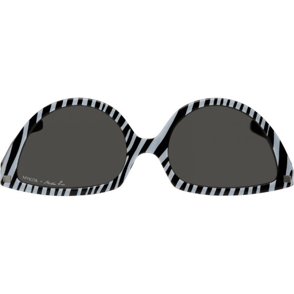 マーティン ローズ Martine Rose メンズ メガネ・サングラス 【White & Black Mykita Edition SOS Zebra Sunglasses】Zebra