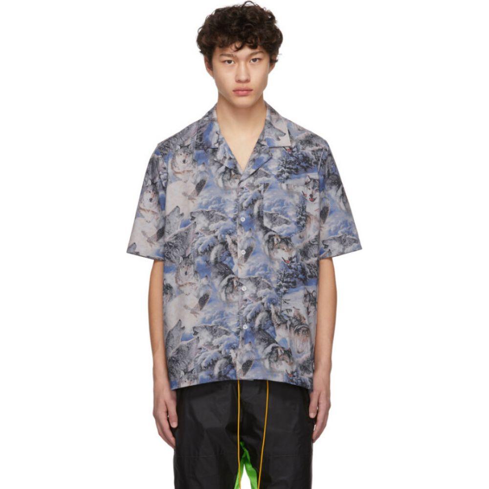 ルード Rhude メンズ トップス 【Blue Wolf Print Shirt】Blue