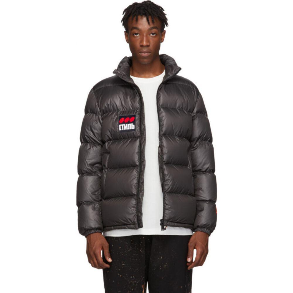 ヘロン プレストン Heron Preston メンズ ダウン・中綿ジャケット アウター【Black Down 'Style' Puffer Jacket】Grey/Black