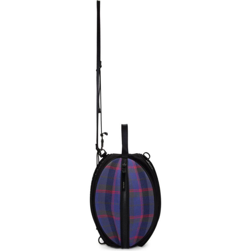 ネーム Name. メンズ メッセンジャーバッグ バッグ【Purple Check Ball Bag】Purple