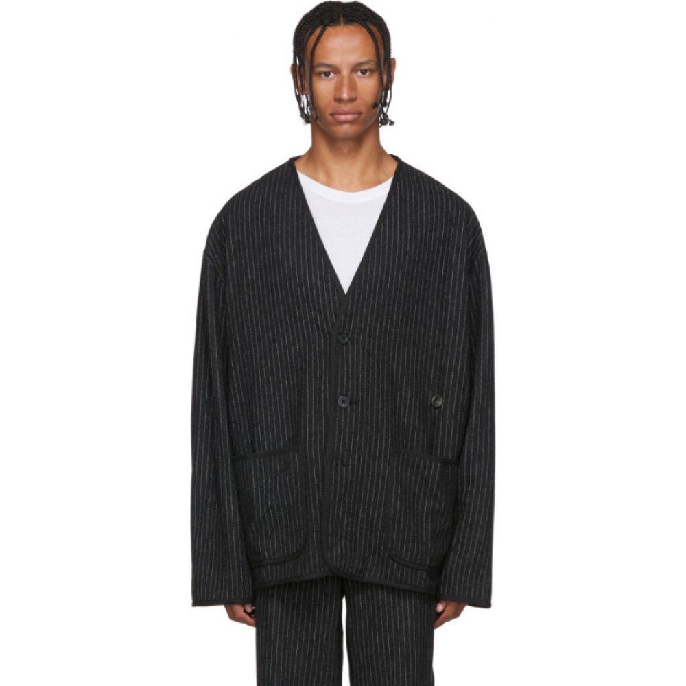 ワンダース Wonders メンズ カーディガン トップス【Black Pinstripe Cardigan】Black