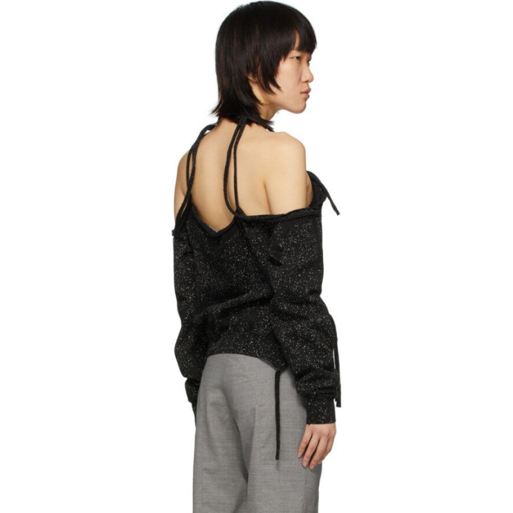 オットリンガー Ottolinger レディース ニット・セーター トップス BlackGrey Speckled Halter Sweater GreyXZikuP