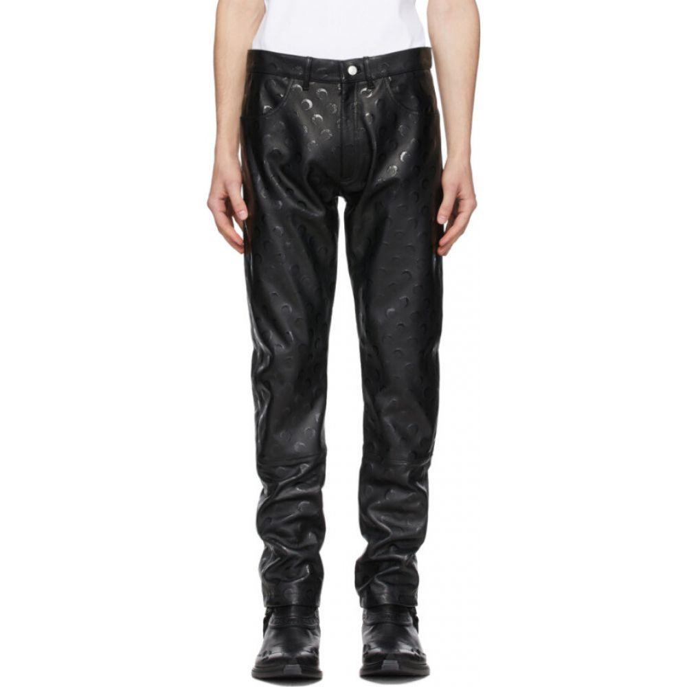 マリーン セル Marine Serre メンズ ボトムス・パンツ レザーパンツ【Black Regenerated Leather Pants】Black