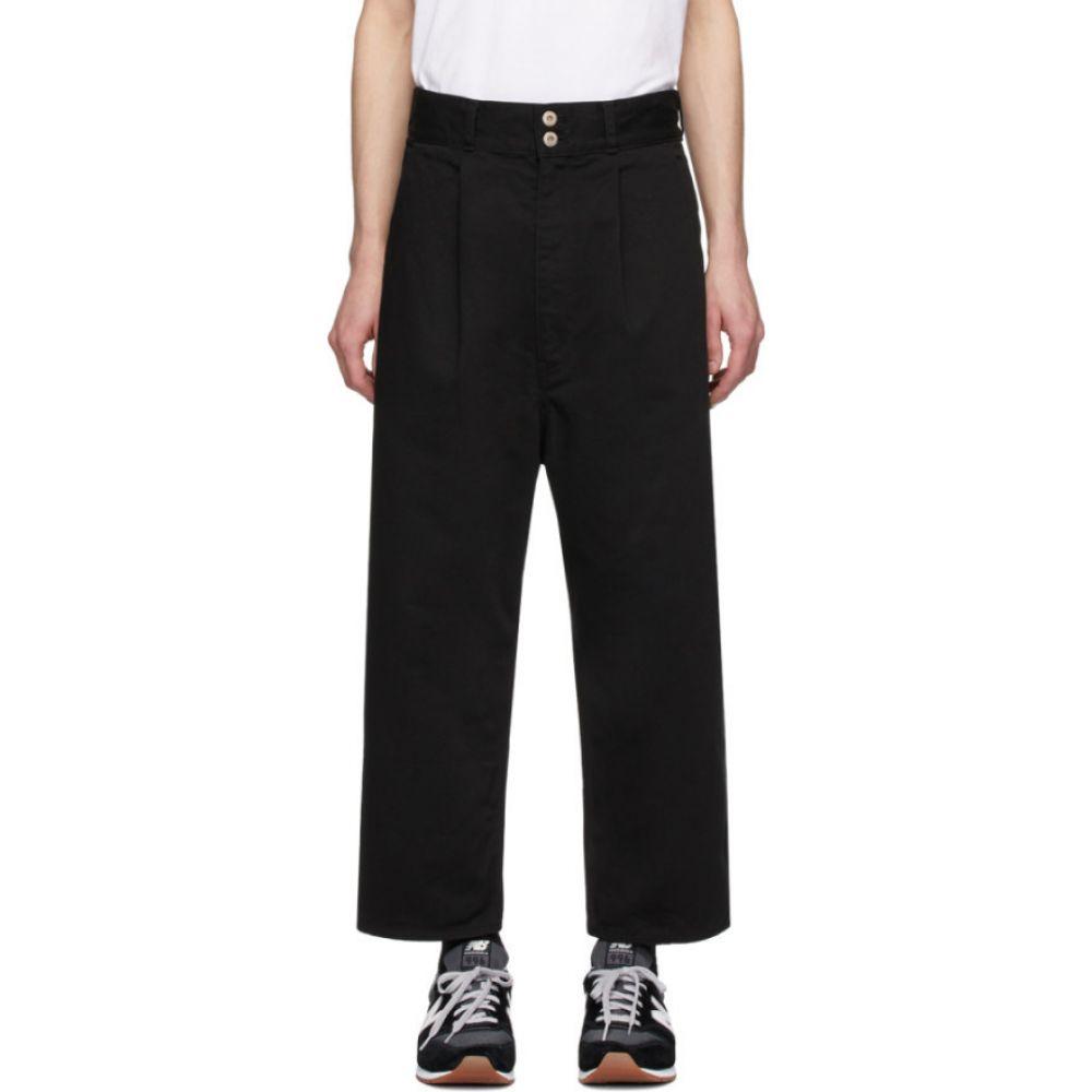 コム デ ギャルソン Comme des Garcons Homme メンズ ボトムス・パンツ 【Black Cotton Drill Garment-Dyed Trousers】Black